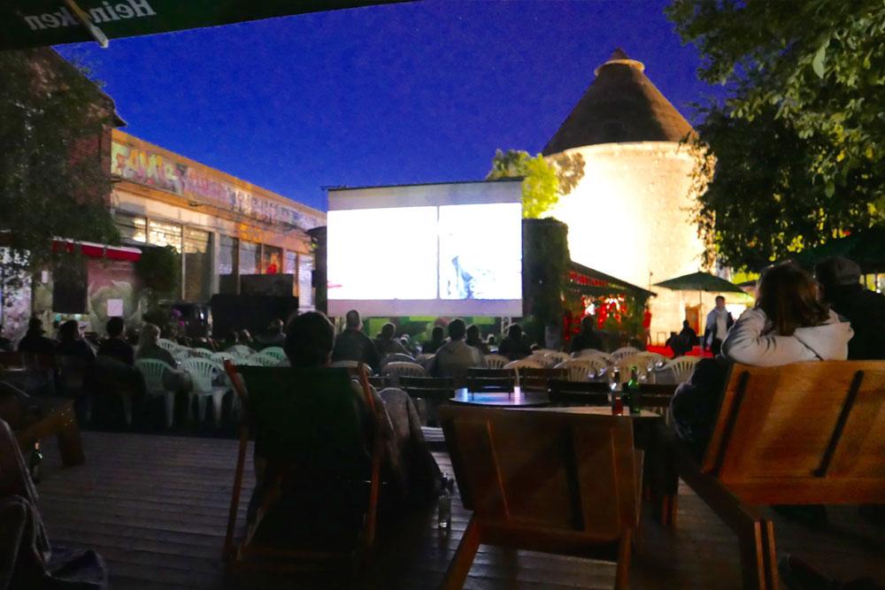 Freiluftkino Insel - während der Vorstellung - 2015